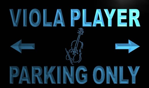 Viola Player Parking Only Neon Light Sign