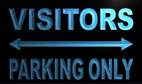 Visitors Parking Only Neon Light Sign