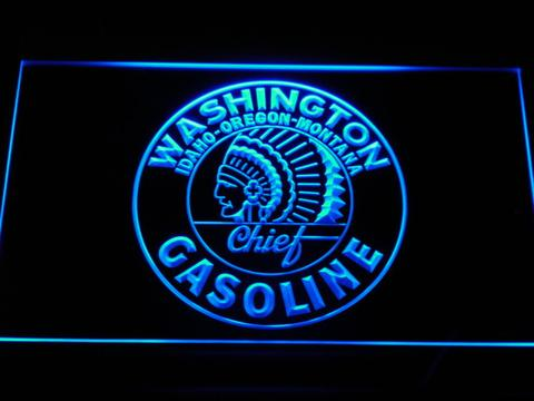 Washington Gasoline LED Neon Sign