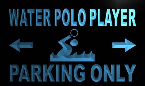 Water Polo Player Parking Only Neon Light Sign