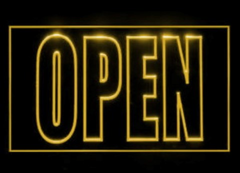 We Are Open LED Neon Sign