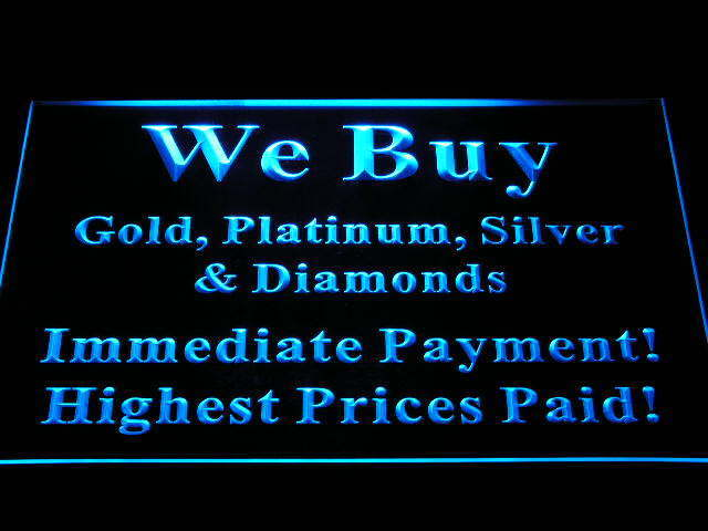We Buy Gold Platinum Silver Diamonds Shop Neon