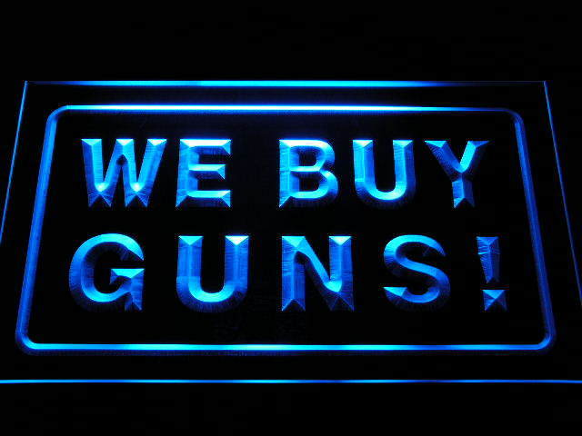 We Buy Guns Display Shop Firearms Neon Light Sign