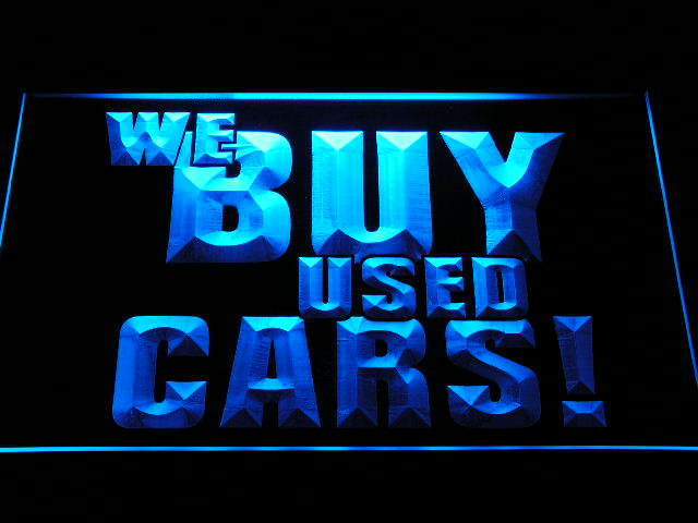 We Buy Used Cars Display Shop Advertising Lure Neon Light Sign