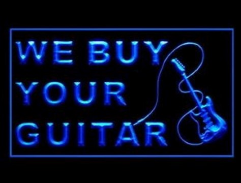 We Buy Your Guitar LED Neon Sign