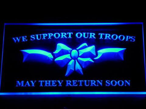 We Support Our Troops LED Neon Sign