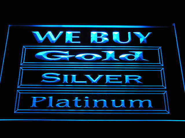 We Buy Gold Silver Platinum Shop Display Advertising Neon Light