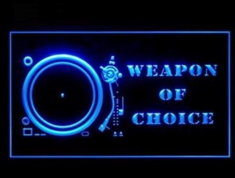 Weapon of Choice Rap DJ Mixer LED Neon Sign