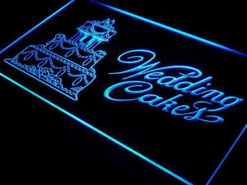 Wedding Cakes Shop Bar Bakery Neon Light Sign