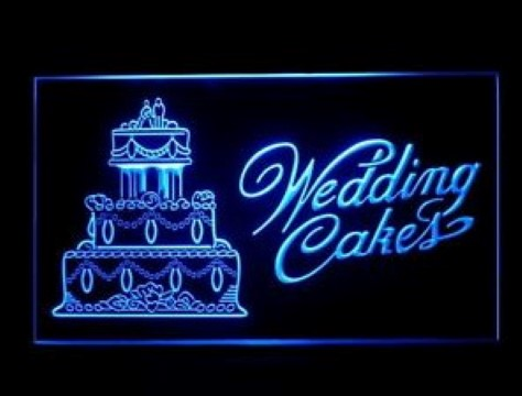 Wedding Cakes Shop LED Neon Sign