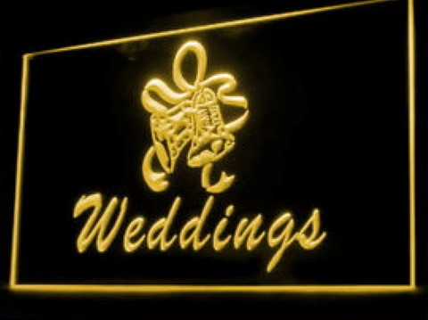 Wedding Decorations Arrangement Service LED Neon Sign