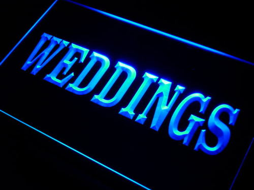 Weddings Services Shop Neon Light Sign