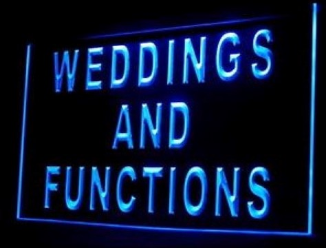 Weddings and Functions LED Neon Sign
