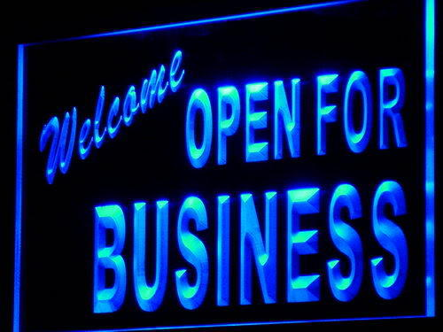 Welcome OPEN For Business Shop Neon Light Sign