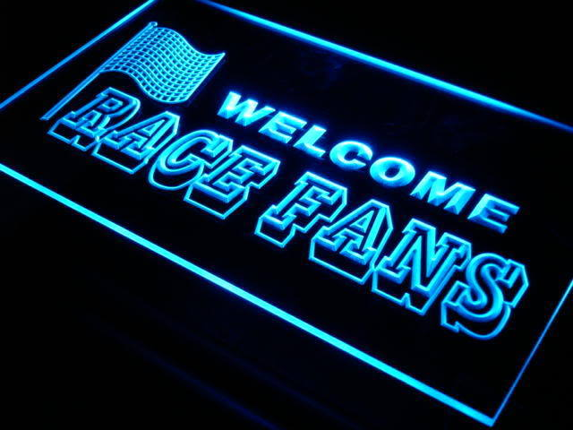 Welcome Race Fans LED Sign
