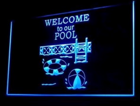 Welcome To Our Pool LED Neon Sign