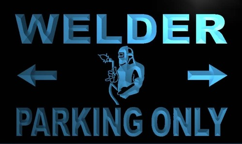 Welder Parking Only Neon Light Sign