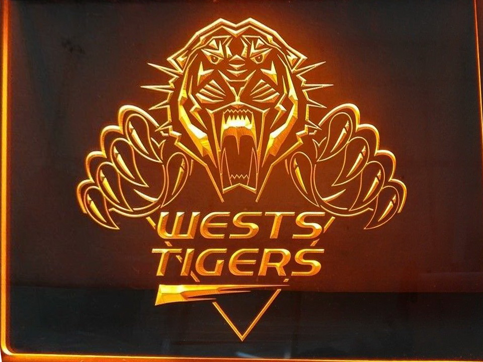 West Tigers Balmain Tigers LED Neon Flag Sign Large NRL