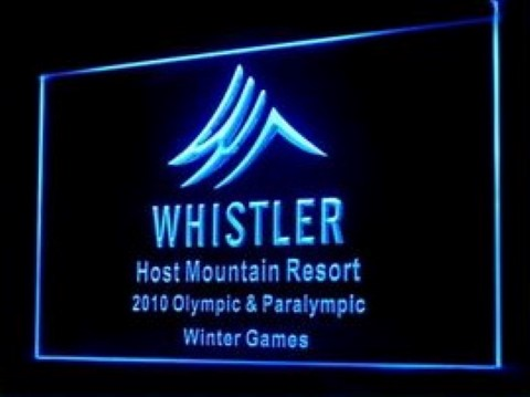 Whistler Olympic Resort LED Neon Sign