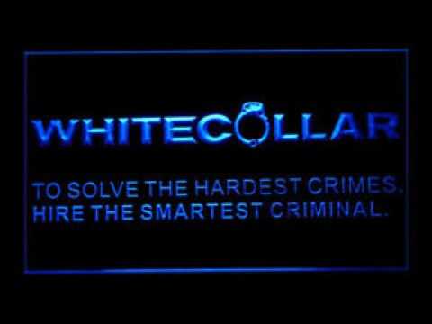 White Collar LED Neon Sign