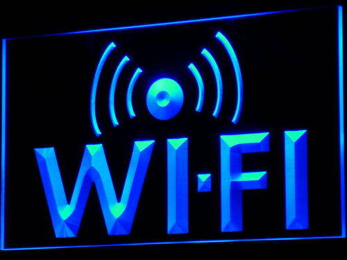 Wi-Fi Internet Access Cafe LED Neon Light Sign