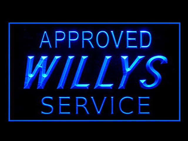Willys Jeep Service LED Sign