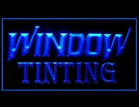 Window Tinting Service Car LED Neon Sign