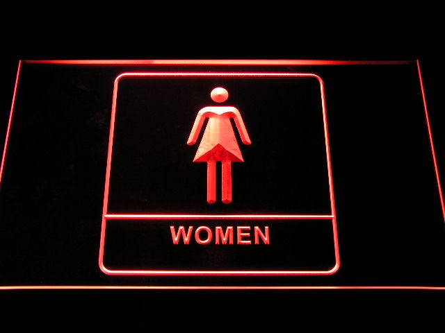 Women Female Girl Toilet Restroom Display Neon Light Sign