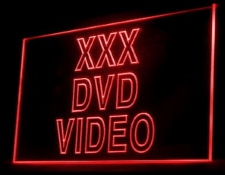 XXX DVD Video Adult Film LED Neon Sign