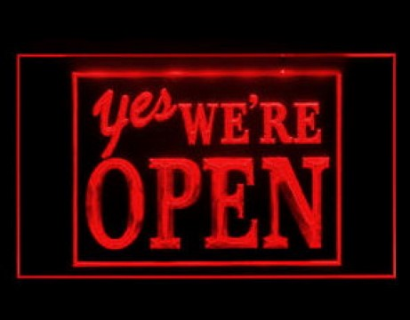 YES Were Open Welcome LED Neon Sign