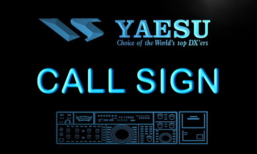 Yaesu Custom Call Sign LED Light Sign