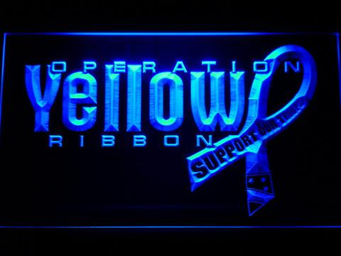 Yellow Ribbon Support Our Troops LED Neon Sign