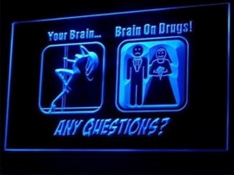 Your Brain on Drug LED Neon Sign