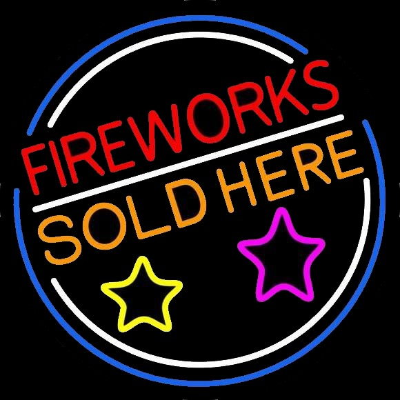 Fireworks Neon Signs