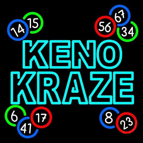 Lottery Keno Neon Signs