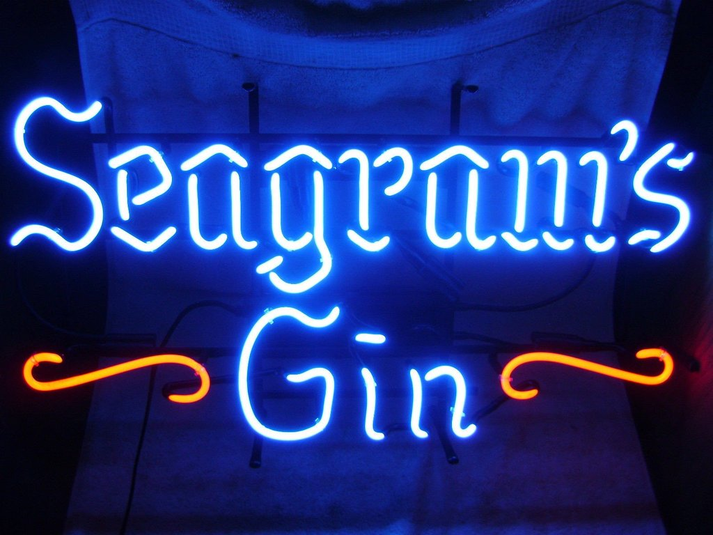 Seagrams Gin Neon Signs