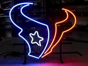 Houston Texans NFL Steer Classic Neon Light Sign 17 x 14