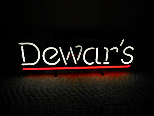 Dewar's Whisky Classic Neon Light Sign 17 x 9