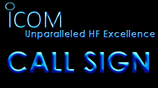 Icom Custom Call Sign LED Light Sign