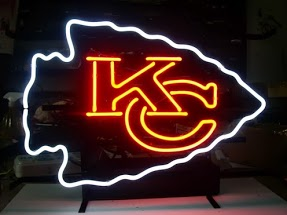 Kansas City Chiefs Classic Neon Light Sign 17 x 14