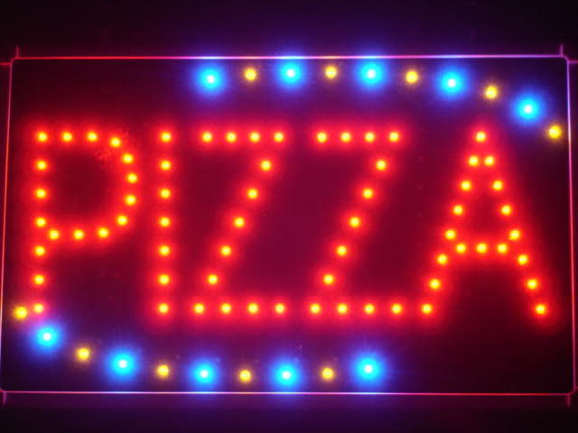 Pizza Shop OPEN LED Business Neon Light Sign