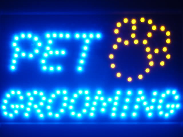 Pet Grooming Dog Shop LED Light Sign