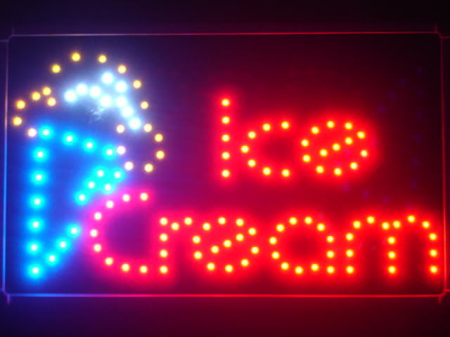 Ice Cream Cafe LED Business Neon Light Sign