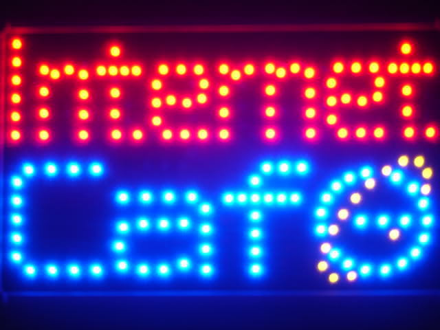 Internet Cafe Bar LED Business Neon Light Sign