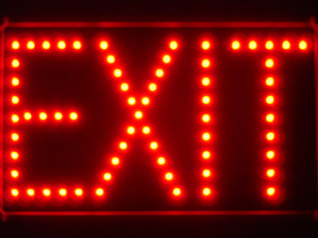 EXIT Red LED Neon Light Sign