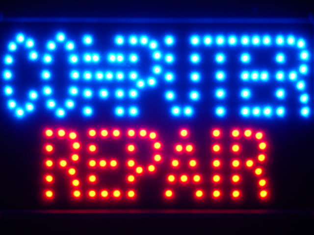 Computer Repair LED Neon Light Sign Whiteboard