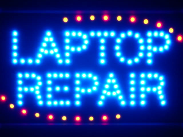 Laptop Repair LED Neon Light Sign Whiteboard