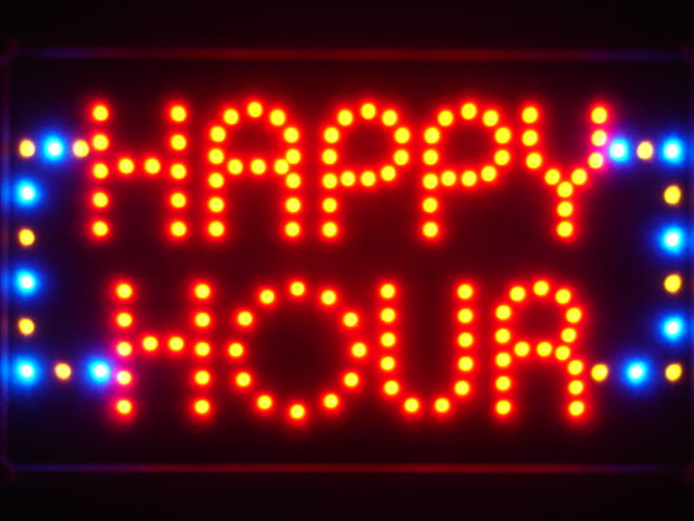 Happy Hour Bar Beer LED Neon Light Sign