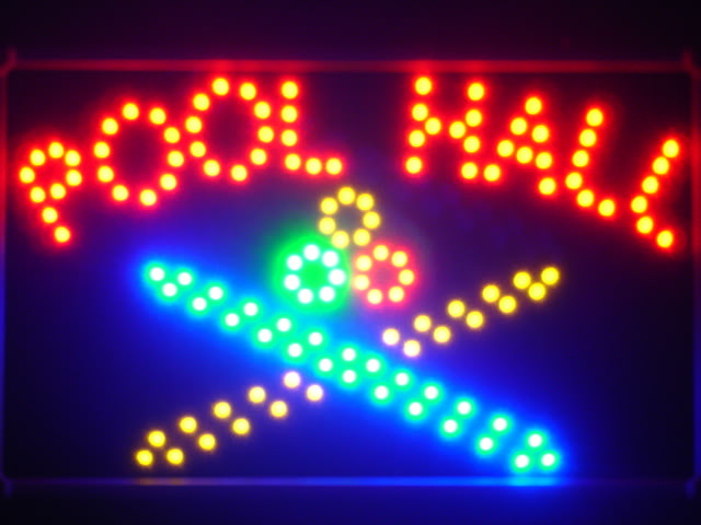 Pool Room LED Neon Light Sign with Whiteboard