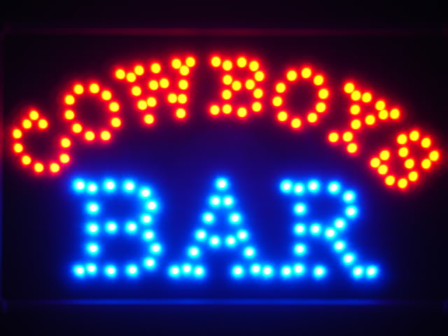 Cowboys Bar LED Neon Light Sign Whiteboard